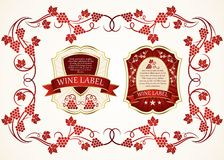 Wine label Stock Photos