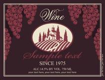 Wine label Royalty Free Stock Photo