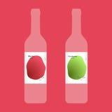 Wine label modern design Stock Photography