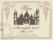 Wine label stock illustration