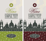 Wine label Stock Images