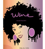 Wine label. Untraditional wine label in vector format Royalty Free Stock Photography