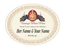 Wine label vector illustration Royalty Free Stock Image