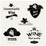 Wine labels Royalty Free Stock Photos