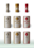 wine labels basic presentation Stock Photos