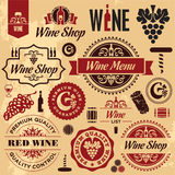 Wine Labels Collection Stock Images