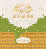 Wine labels Royalty Free Stock Image