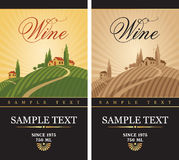 Wine labels Royalty Free Stock Photo