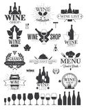 Wine Labels and Logos Stock Images