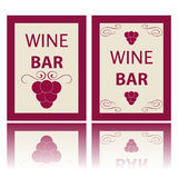 Wine labels Stock Photo