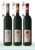 wine labels presentation Royalty Free Stock Photos