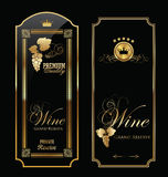 Wine labels Stock Photography