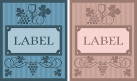 Wine labels in retro style Royalty Free Stock Photos