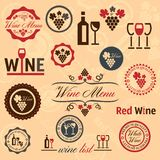 Wine labels set Stock Photos