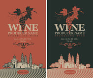 Wine labels set royalty free illustration