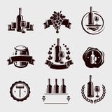 Wine labels set. Vector. Wine labels set. This is file of EPS8 format Royalty Free Stock Photos