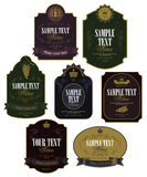 Wine labels Stock Images