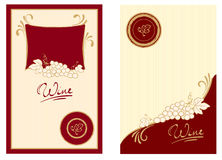 Wine labels with swirls. Illustration - templates for wine labels Royalty Free Stock Photography