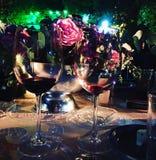 Wine life night light love. Rose flower green stock photography