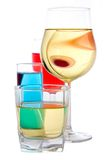 Wine, liqueur, whisky Stock Photography