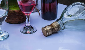 Wine and liquor for the party Royalty Free Stock Photos