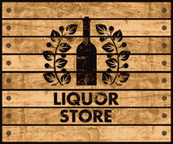 Wine and liquor store sign Stock Photography