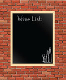 Wine list Stock Image