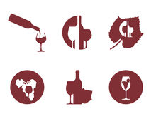 Wine list background with wine symbol Stock Image