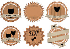 Wine list badge Stock Photography