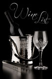 Wine list in black Royalty Free Stock Images