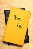 Wine list book Royalty Free Stock Photos