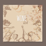Wine list cards. Menu cards sketch. Royalty Free Stock Image