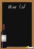 Wine list chalkboard Royalty Free Stock Images