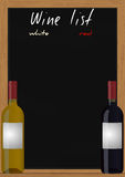 Wine list chalkboard Royalty Free Stock Photos