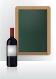 Wine list chalkboard Stock Photos