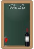 Wine list chalkboard Royalty Free Stock Photo