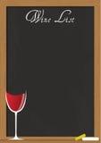 Wine list chalkboard Stock Photography