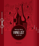 Wine list design. Vector available Stock Illustration