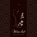 Wine list design. Vector available Royalty Free Illustration