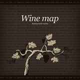 Wine list design Stock Photos