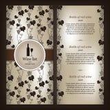 Wine list design. For restaurant Royalty Free Stock Photo
