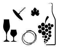 Wine List Design Stock Photo