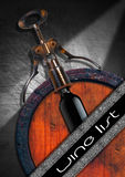 Wine List Design Stock Image