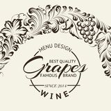 Wine list design layout on chalkboard. Vector Royalty Free Stock Image