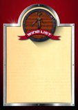 Wine List Design vector illustration