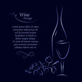 Wine list design Royalty Free Stock Images