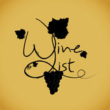Wine list design template Royalty Free Stock Image