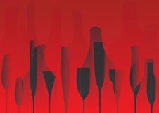 Wine List Design vector Royalty Free Stock Image