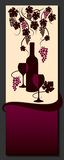 Wine list design. Vine abstract. Vector. Stock Photos