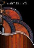 Wine List Design Royalty Free Stock Image